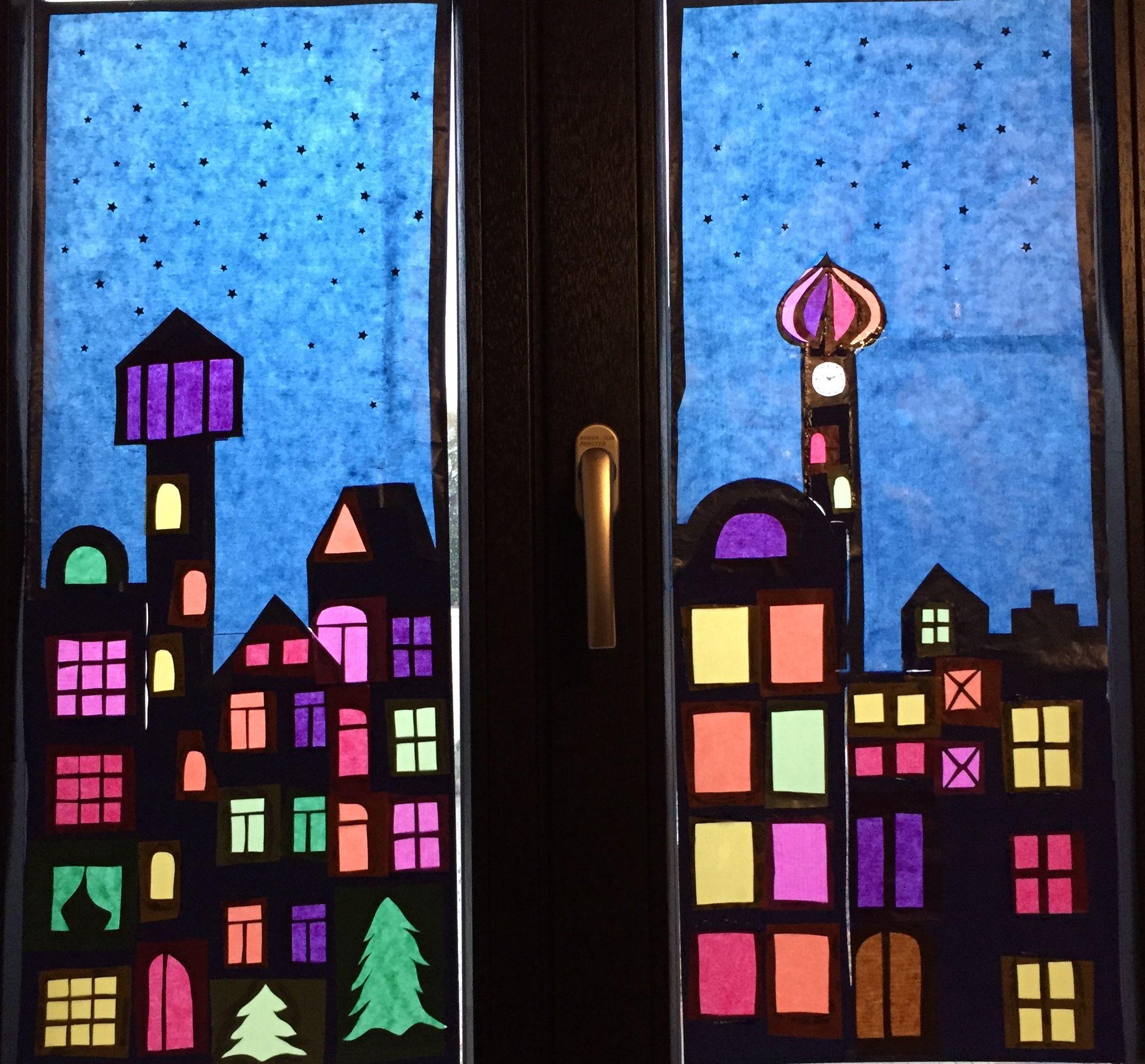 Fensterbild Weihnachten Fensterdekoweihnachtenbasteln Fensterbild Aus Tonpapier Mit Fensterbilder Weihnachten Basteln Fensterbilder Weihnachten Fensterbilder