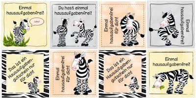 Ideenreise: Hausigutscheine mit Zebras