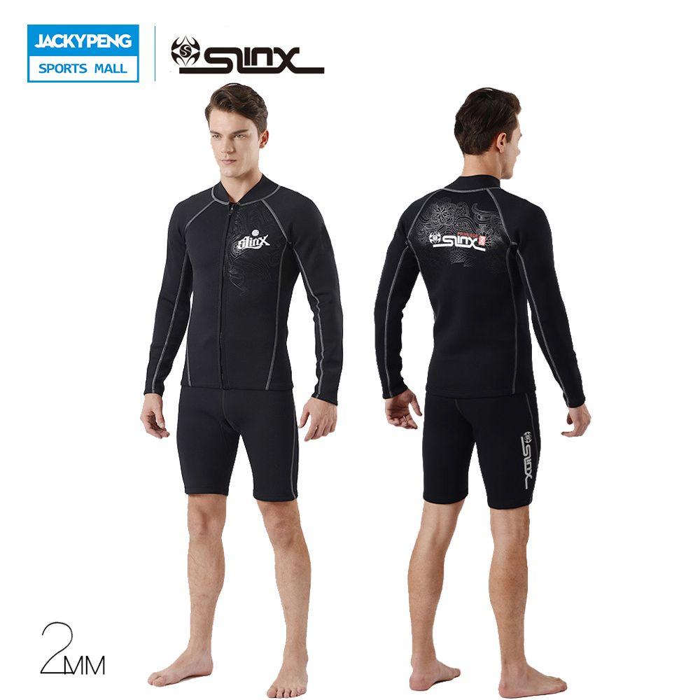 ef6e0e8322 SLINX 1401 2mm Neoprene Men Snorkeling Spearfishing Kite Surfing Windsurf  Keep Warm Jacket Swimwear Wetsuit Scuba