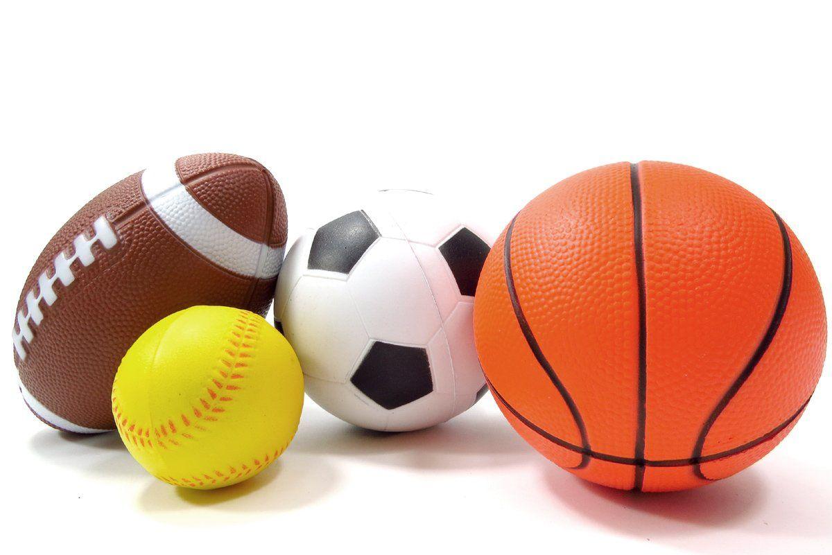 Set Of 4 Sports Balls For Kids Soccer Ball Basketball Football Baseball Soccer Ball Basketball Games For Kids Kids Soccer
