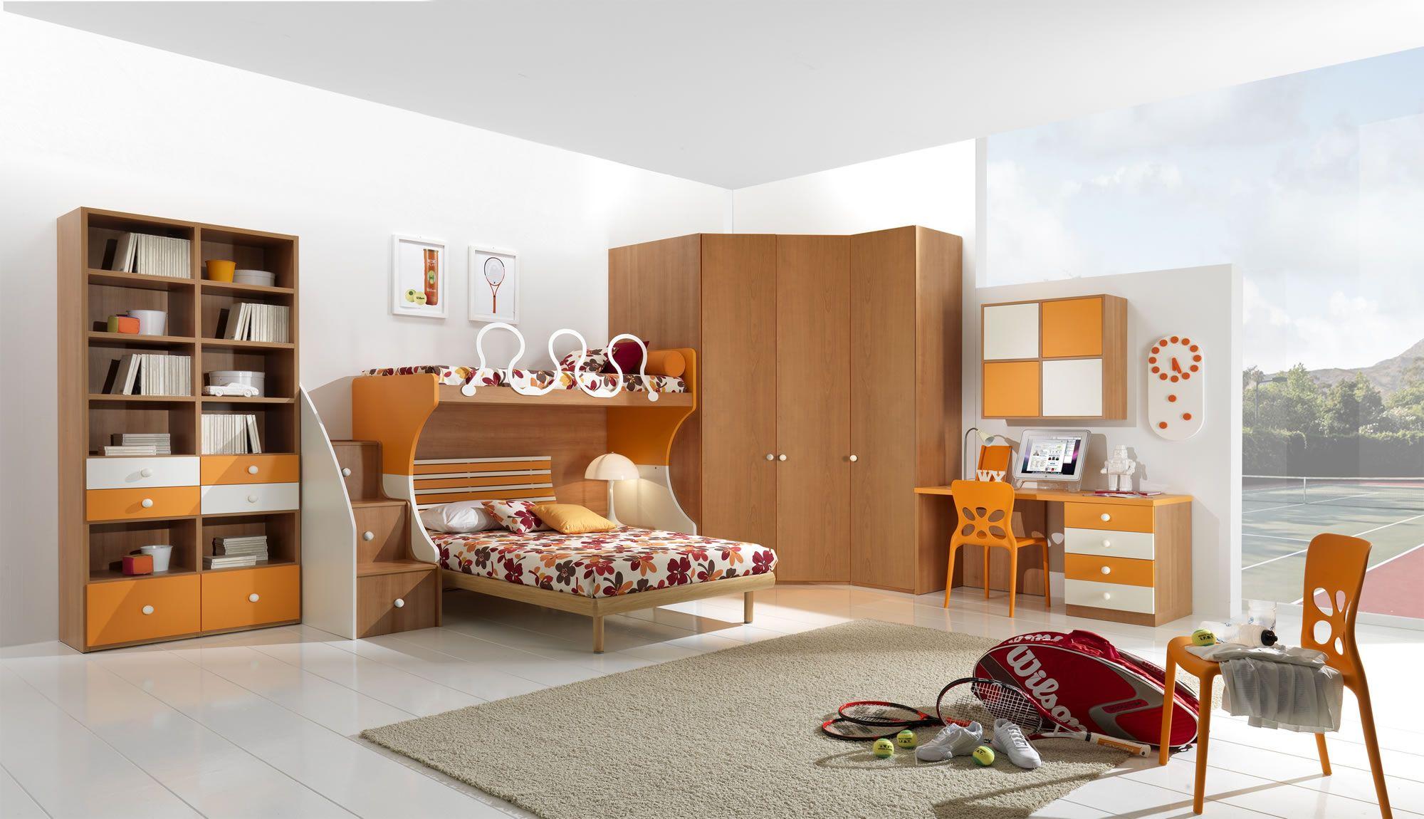 GSG | ( W34 ) letto a castello con cabina armadio naturale ...