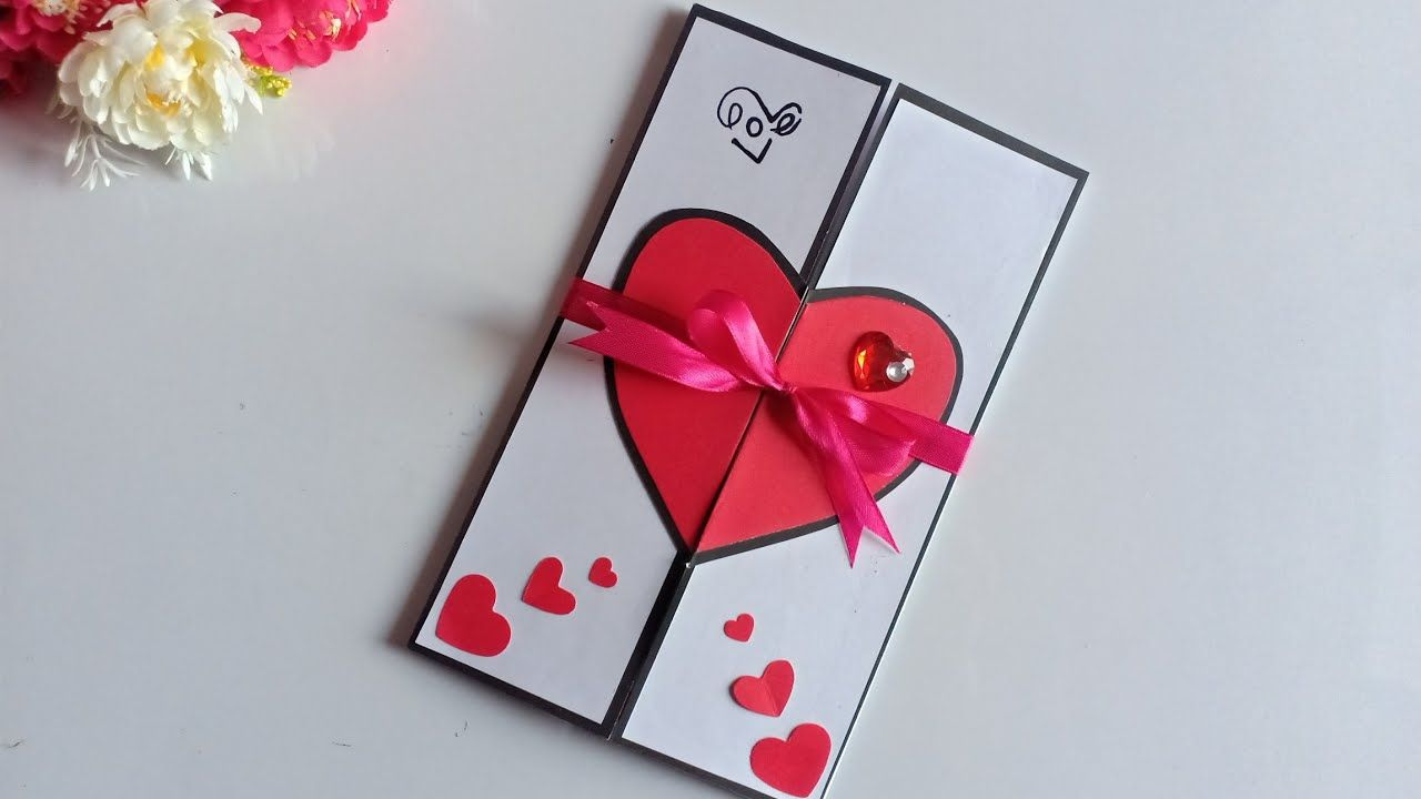 Diy Amazing Greeting Card Design For Valentine S Day Live Enhanced Valentine Card Crafts Valentines Cards Valentine Greeting Cards