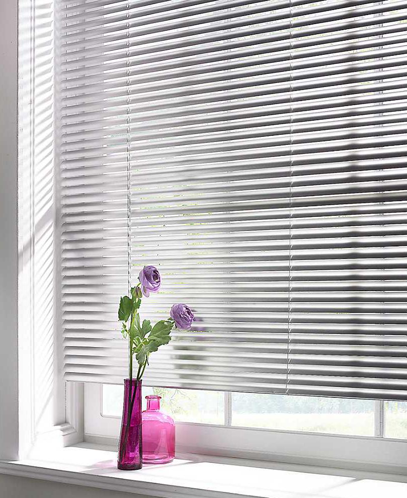 Aluminum slats for 25mm venetian shutters buy aluminium - Aluminium Venetian Blinds Illumin8 Blinds Curtains Here In Silver Colour
