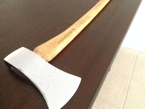 Retirement fire man axe engraved axe plated axe by
