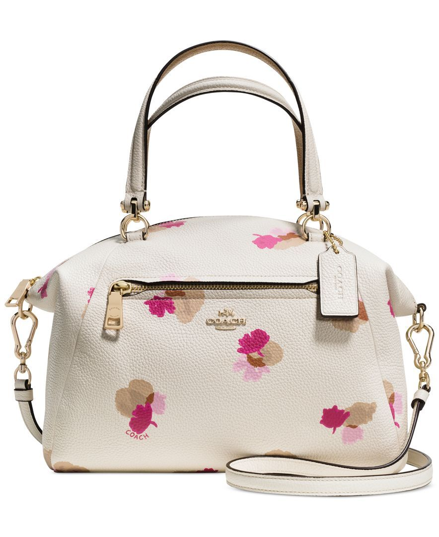 Coach Prairie Satchel In Floral Print Leather Just Bag It