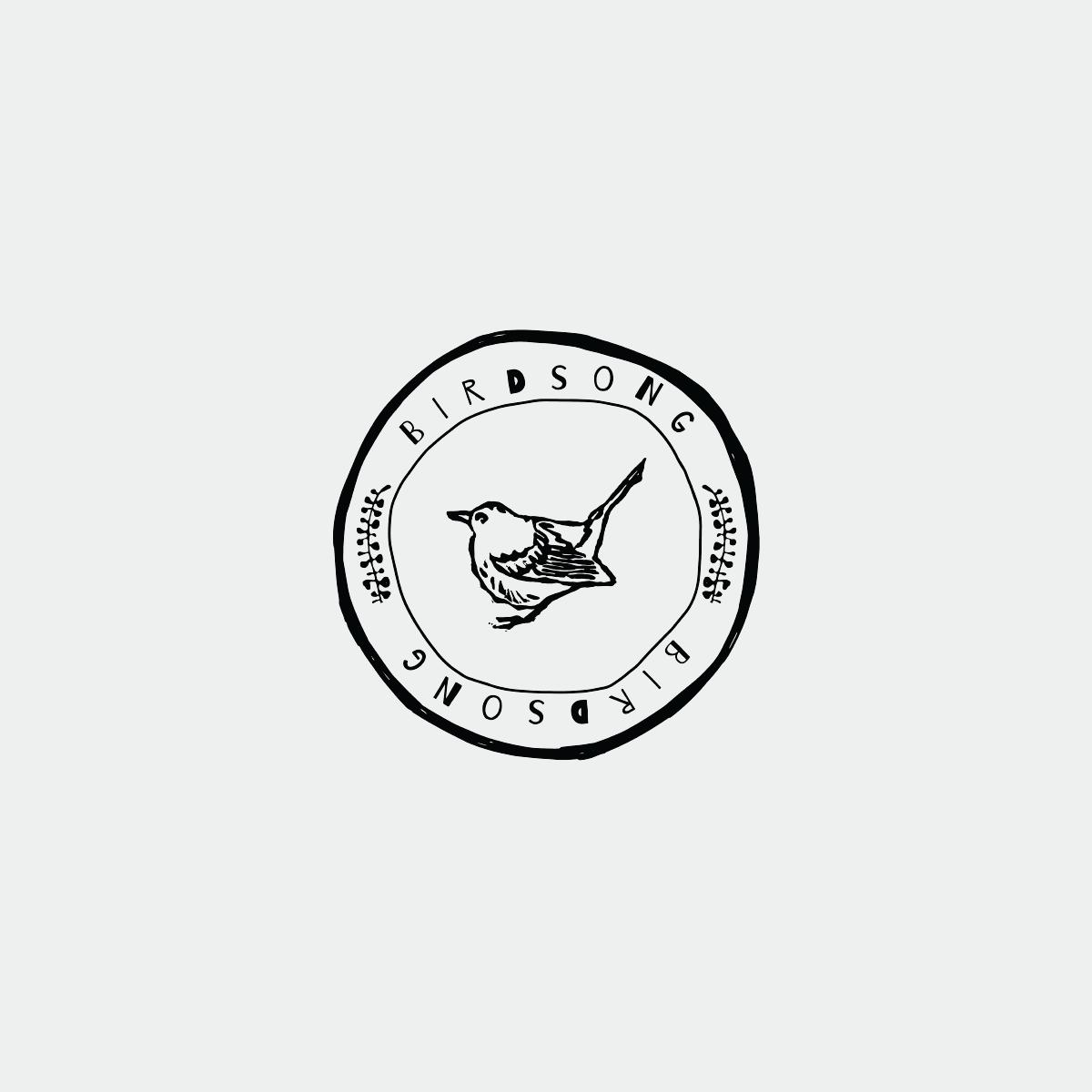 Bird Logo Design Stamp Logo Hand Drawn Logo Bird Logo Design Ink Logo Bird Logos