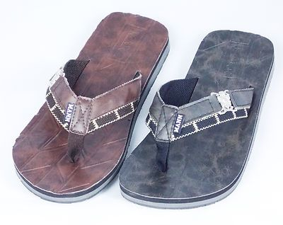 6e1f24812b97 New Mens Flip Flops Thong Style Casual Dress Sandals Black Brown