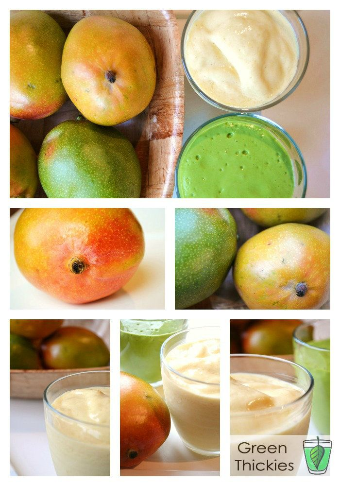 This Creamy Mango Shake is a great banana free smoothie.  Mangoes are a great banana replacement in all smoothies.