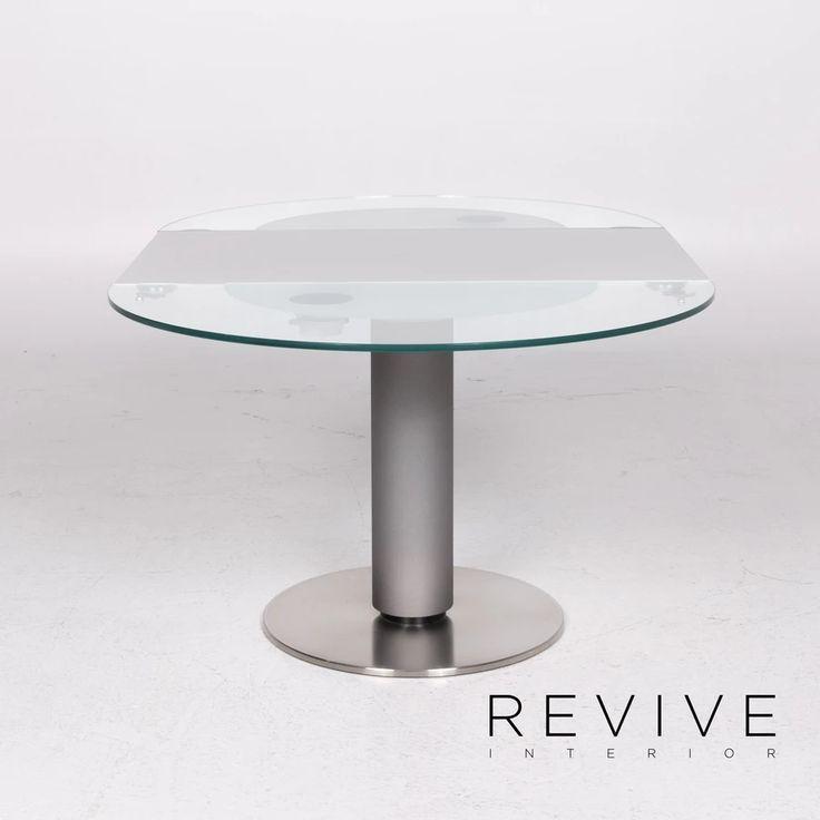 Ronald Schmitt K 765 E Glas Tisch Silber Esstisch Grosse Verstellbar 11858 In 2020 Esstisch Tisch Glas
