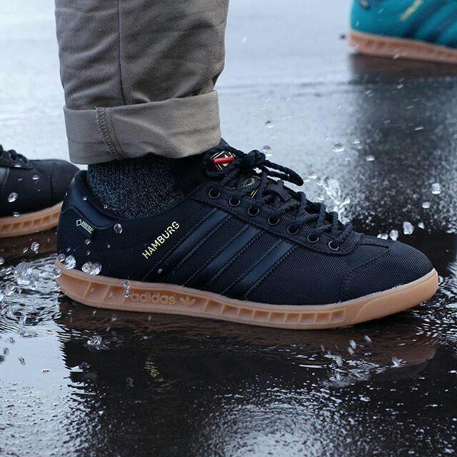 reasonable price Adidas Men Shoes Hamburg Gtx Black Gum