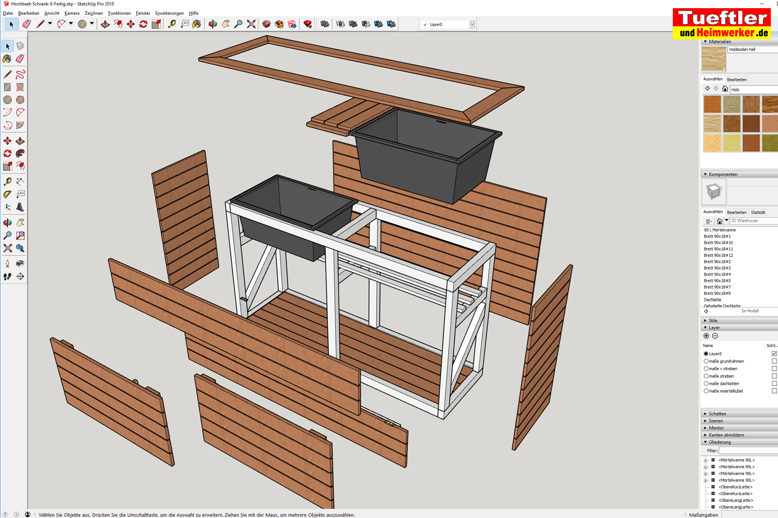 Hochbeet Mit Kombinierter Mullbox Selber Bauen Diy Projekttueftler U Balcony Garden Balcony In 2020 Backyard Landscaping Designs Diy Wood Furniture Living Room