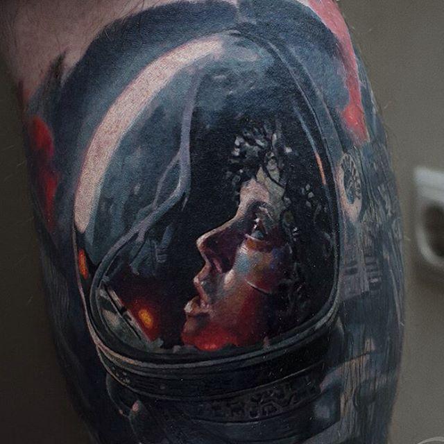 Drawn & Realism in the works of Olga Grigoryeva -  Olga Grigoryeva – tattoo master from Kiev (Ukraine). In her arts she combines works both in black - #BlackAndGrayTattoosarm #BlackAndGrayTattoosdark #BlackAndGrayTattoosdrawing #BlackAndGrayTattoosshoulder #BlackAndGrayTattoossketch #Drawn #Grigoryeva #Olga #Realism #works