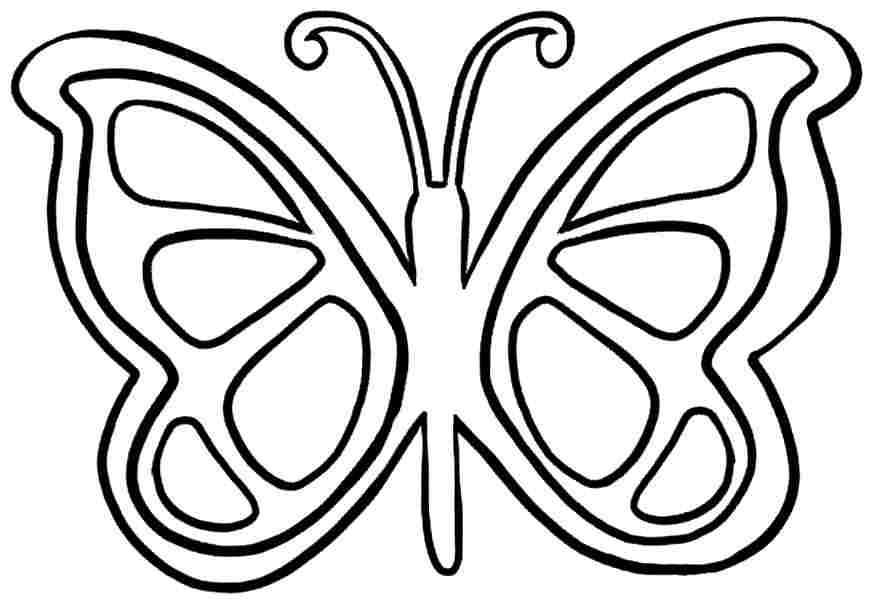 Simple Butterfly Coloring Page Free Pic Of In Black N White For Pages That You Can Print Out Butterfly Coloring Page Easy Butterfly Drawing Butterfly Printable