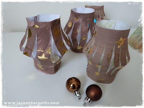 Tuto : des lanternes en papier pour Noël |La cour des petits #activitemanuellenoelmaternelle