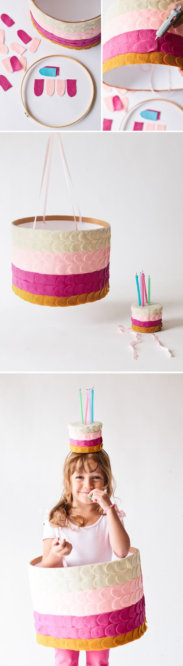 Handmade Birthday Cake Costume from @Victoria Hudgins | A Subtle Revelry  sc 1 st  Pinterest & birthday cake halloween costume | Pinterest | Birthday cakes ...