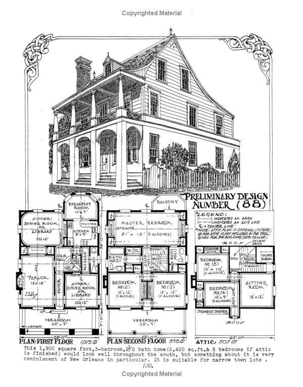 The Affordable House David John Carnivale 9781419613821 Amazon Com Books Victorian House Plans Vintage House Plans Dream House Plans