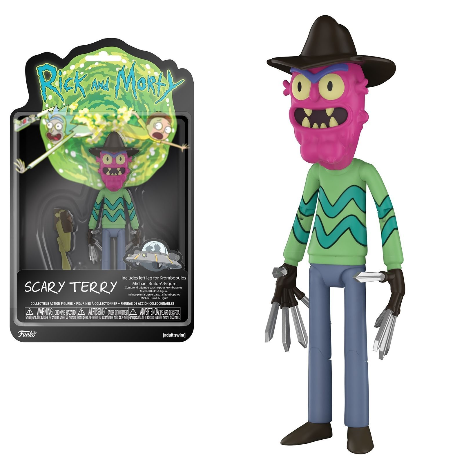 """Funko 5/"""" Articulated Rick and Morty Meeseeks Action Figure"""