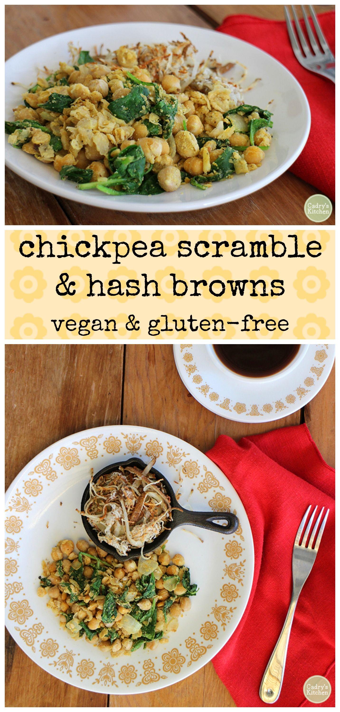 Chickpea Scramble Hash Browns Recipe Brunch Recipes Vegetarian Recipes Vegan Gluten Free Breakfast