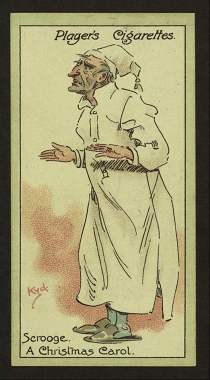a christmas carol characters from dickens cigarette cards players cigarettes scrooge