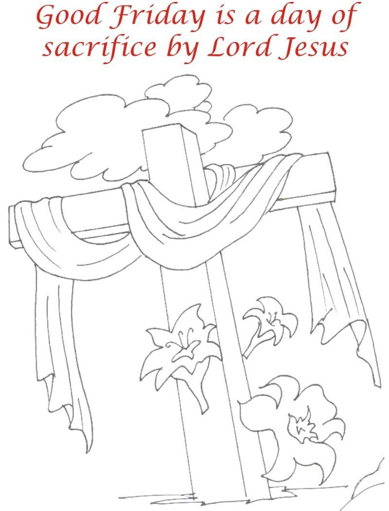 Good Friday Coloring Pages Good friday coloring printable