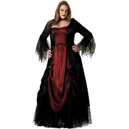 Gothic Vampire Sexy Women's Costume Adult Halloween Outfit - Size 3X/4X, Dress Size 24-26