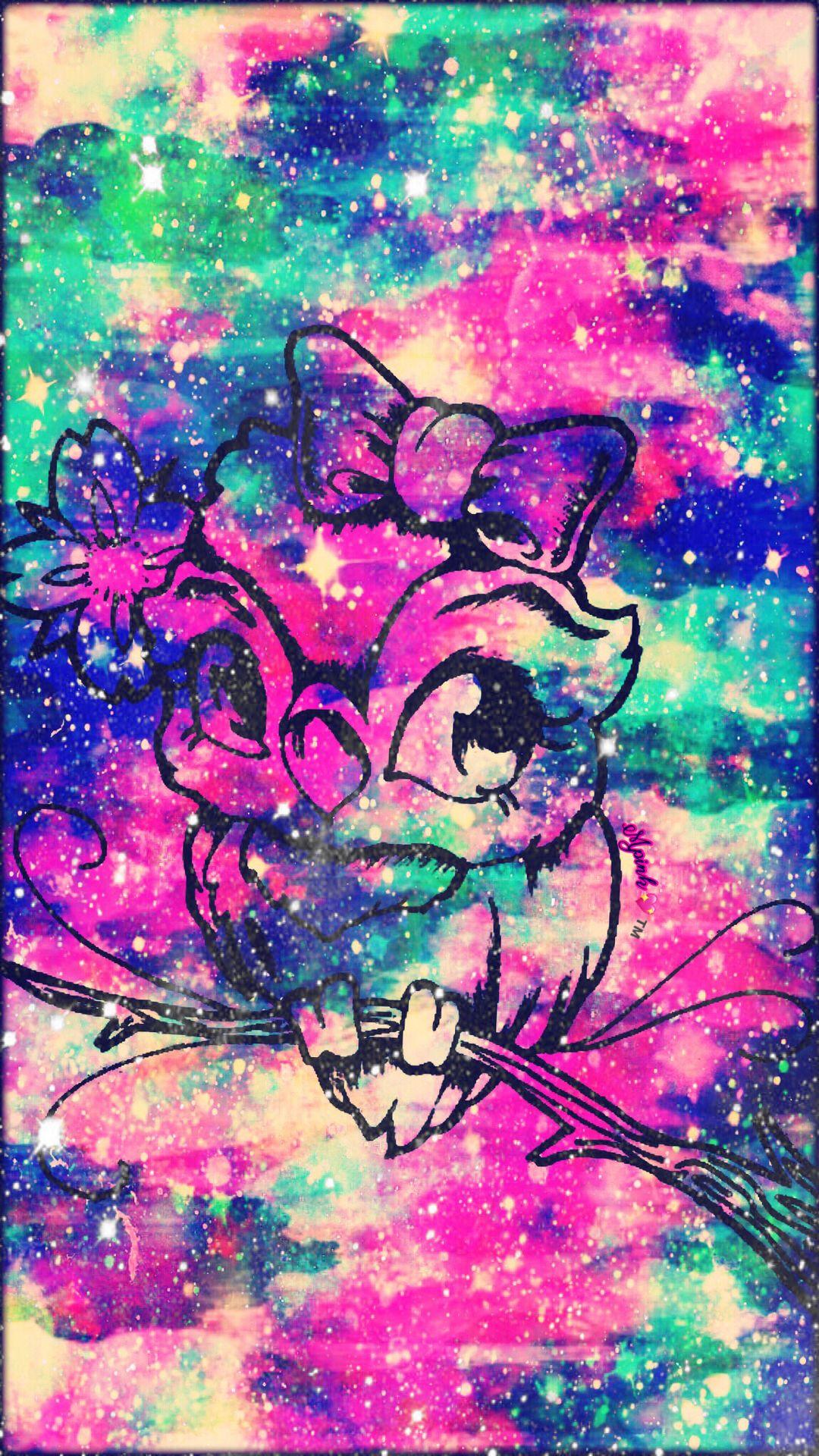 Cute Grunge Owl Galaxy Wallpaper androidwallpaper