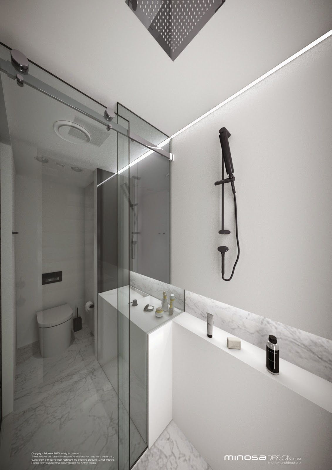 Minosa Design: Small Bathroom & Glass walls. Why not? | Bathrooms ...