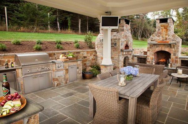 Schöne Wohnideen Küche Im Innenhof Gestaltungsideen