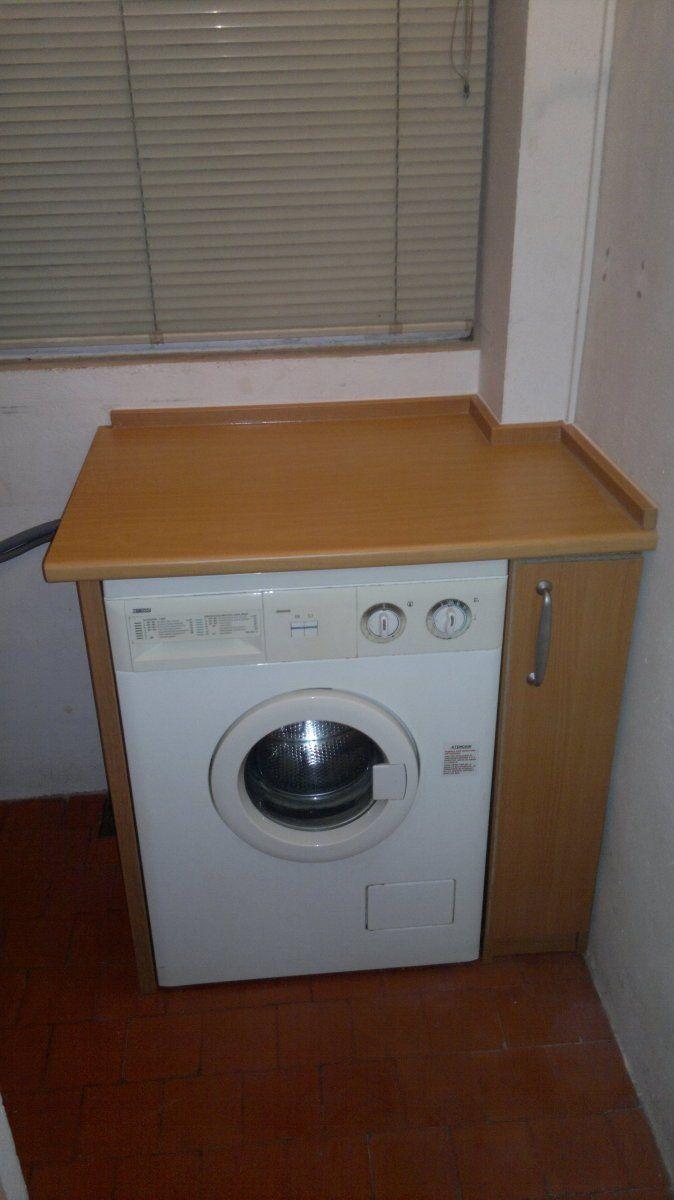 Armario y mueble lavadora en terraza armario terrazas y for Mueble lavadora exterior