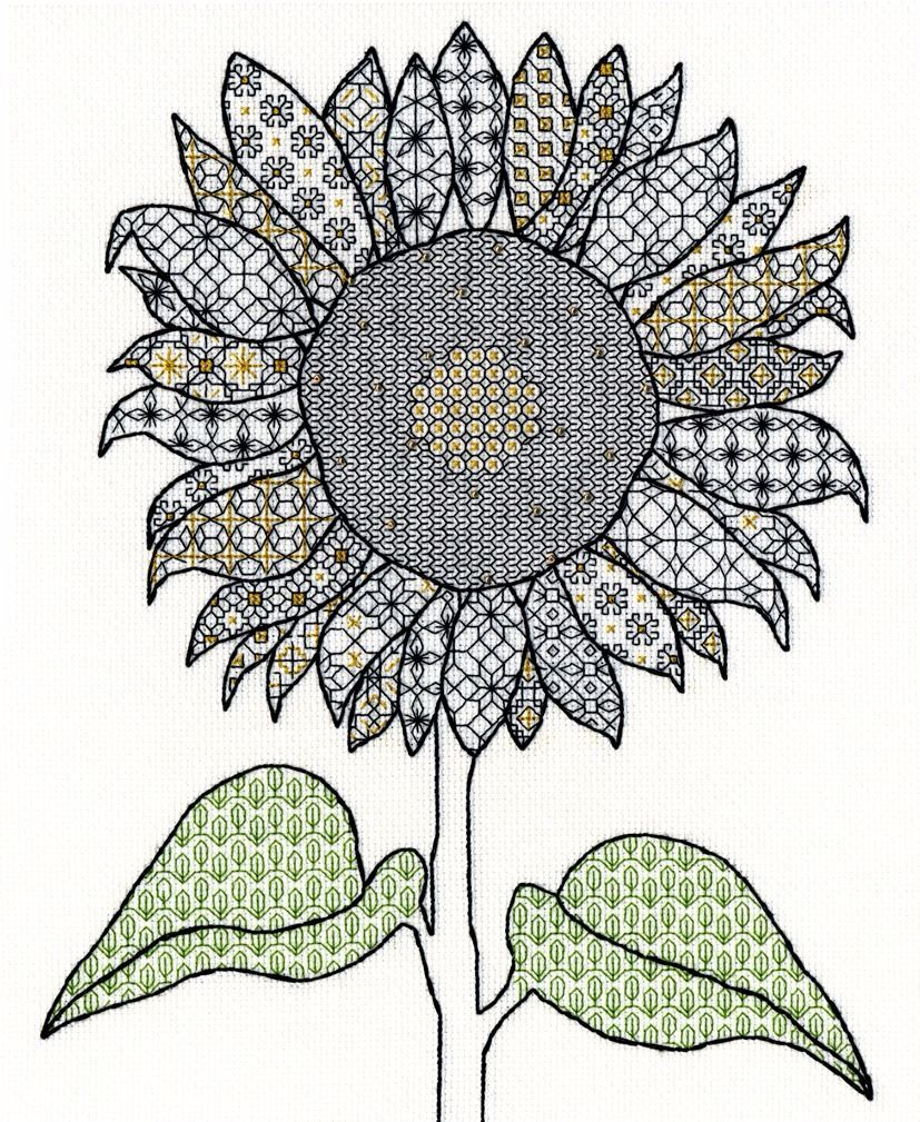 Bothy Threads ~ Counted Cross Stitch Kit ~ Blackwork ~ Rose ~ XBW6