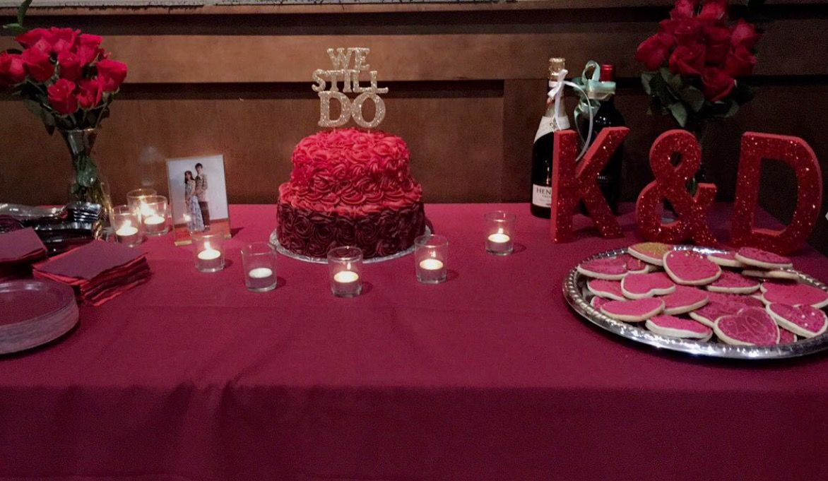 Cake Table 40th Anniversary Cake Table Ruby Anniversary Event Decor