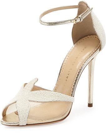 Charlotte Olympia Sandrine Beaded Starfish Sandal Pearl www.finditforweddings.com designer shoes