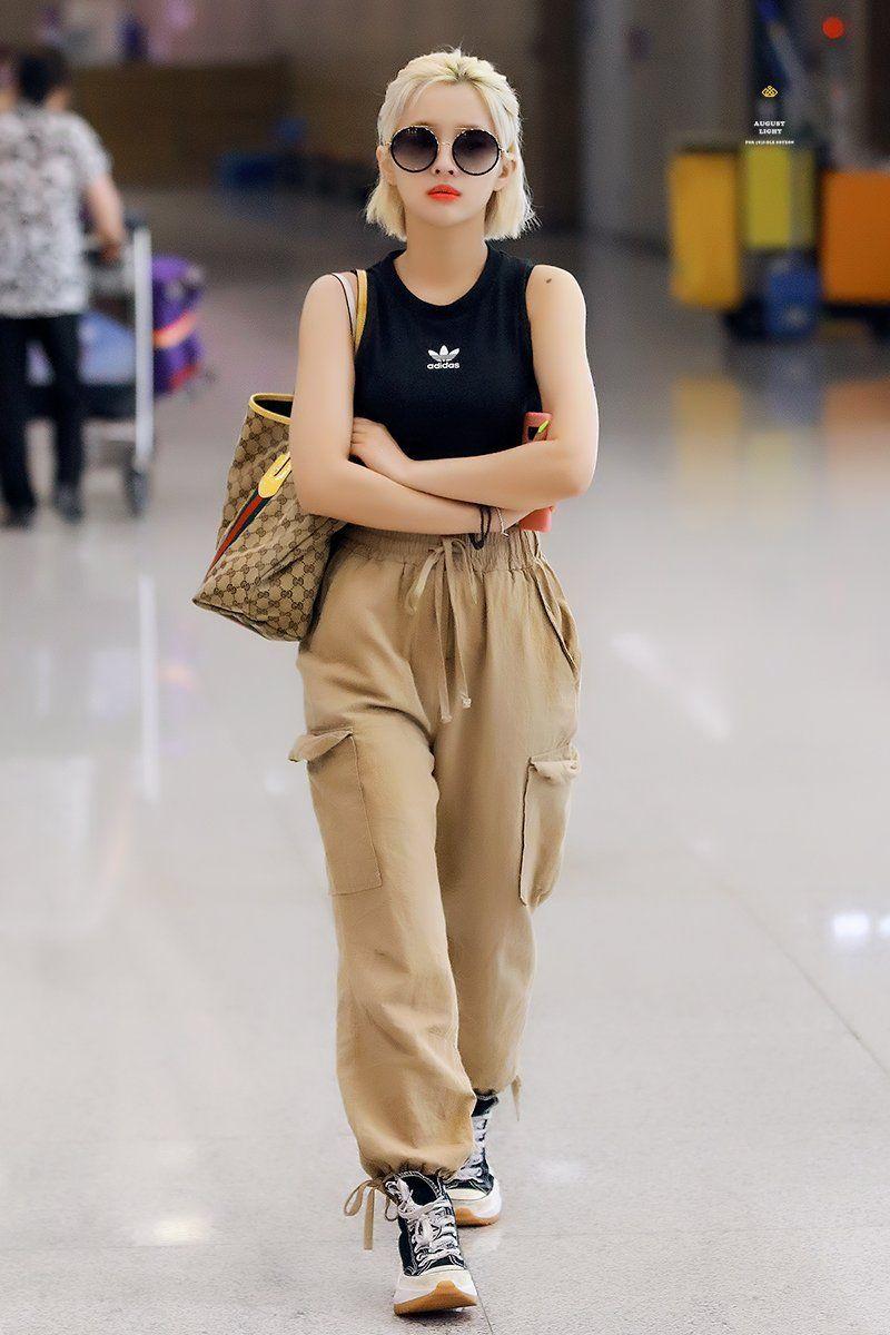Soyeon  Korean street fashion, Airport fashion kpop, Korean