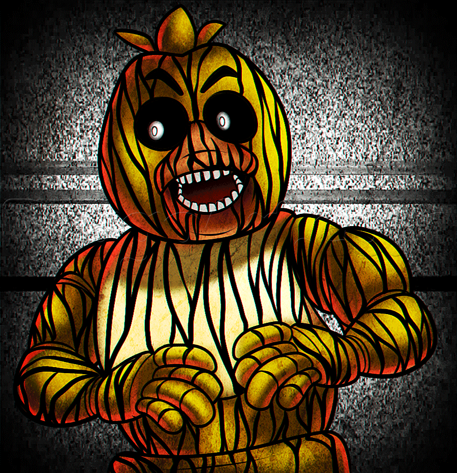 withered chica and toy chica Google Search Fnaf art