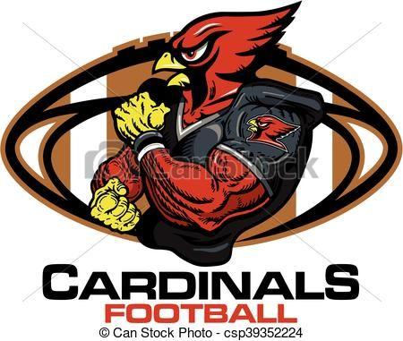 vector cardinals football stock illustration royalty free rh pinterest com nfl football team helmets clipart football team huddle clipart