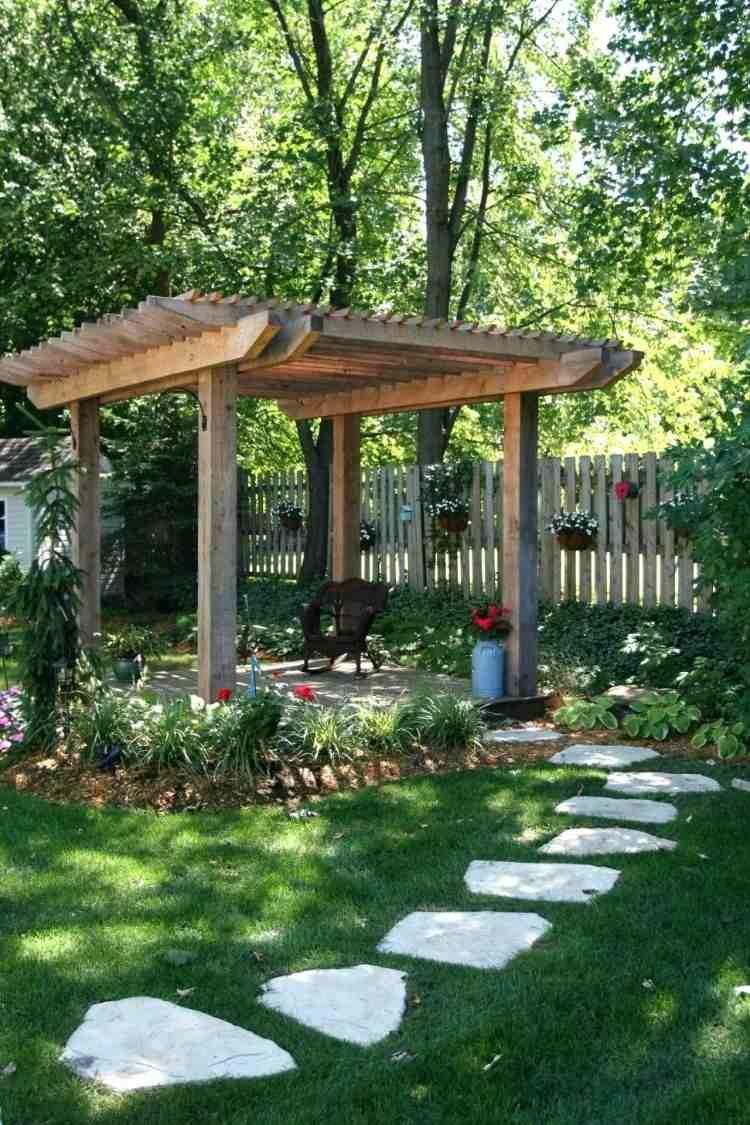 jardin romantique id es d 39 am nagement et l ments incontournables backyard pinterest. Black Bedroom Furniture Sets. Home Design Ideas