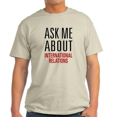 3ac47fb974ef International Relations Light T-Shirt | Business and Marketing | T ...