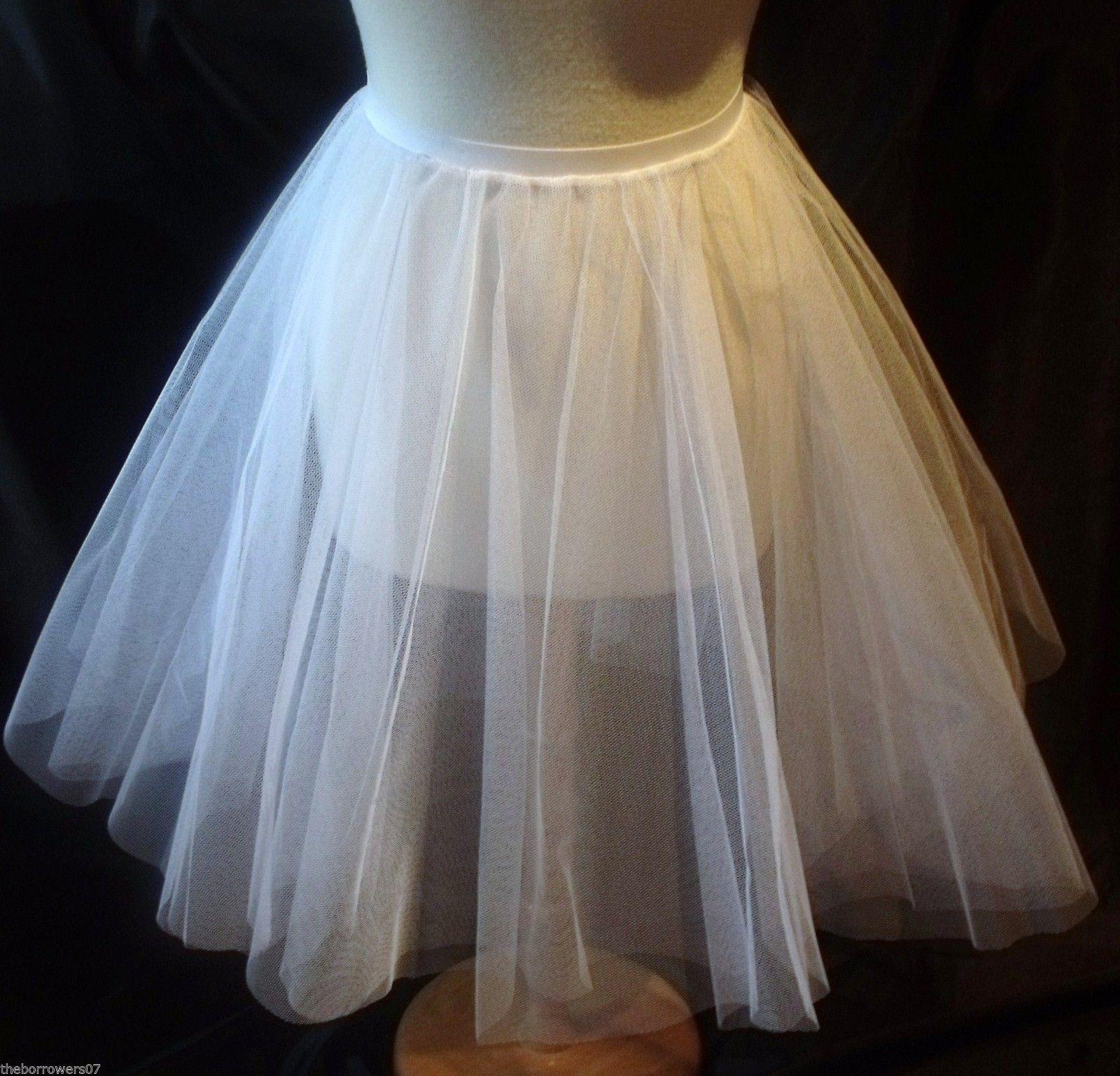 Childrens Net Circle Underk-skirt Dancewear Formal Dress Netting Petticoat UK