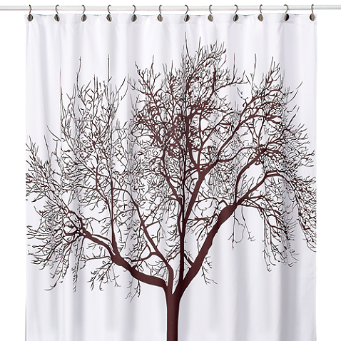 Tree Brown 70 Inch X 72 Inch Fabric Shower Curtain Tree Shower