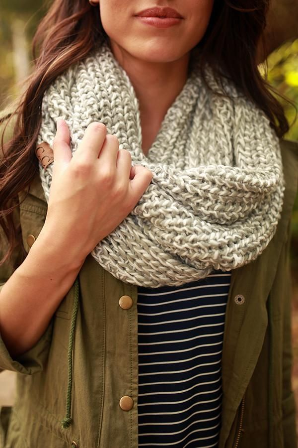 Photo of Simply Beautiful Infinity Scarf in Grey