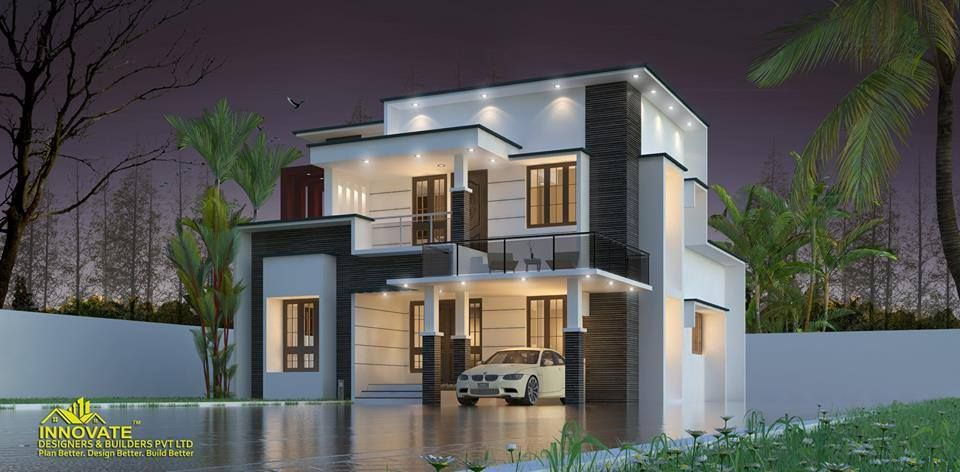 3 Bedroom Modern Home Design With Courtyard For 29 Lakhs In 1696 Sqft With Free P Kerala House Design Architectural House Plans Modern Contemporary House Plans