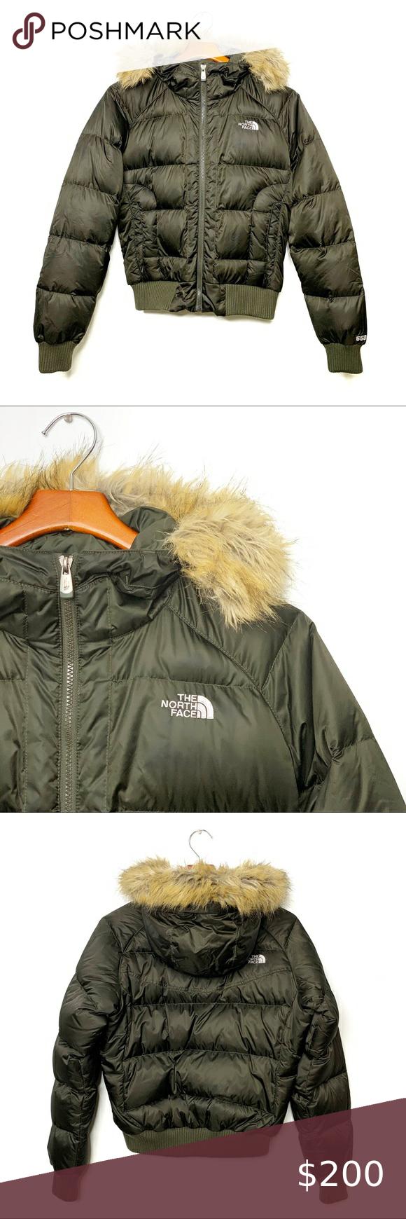 The North Face 550 Puffer Coat Fur Trim Hood Sz M Puffer Coat North Face Puffer Jacket North Face Puffy Jacket [ 1740 x 580 Pixel ]