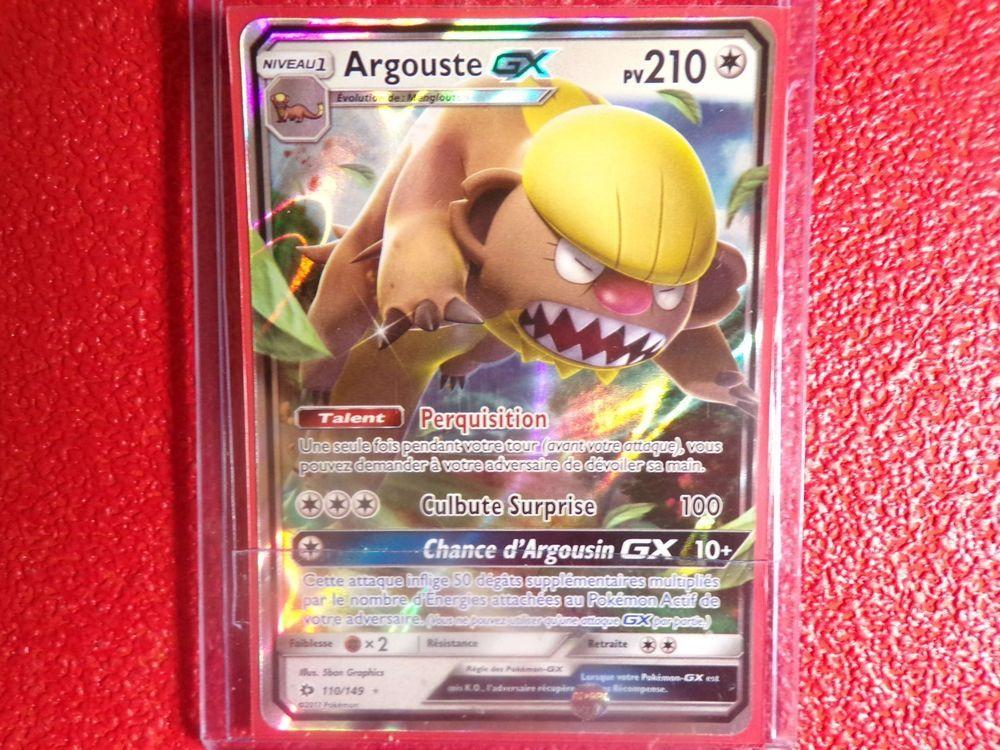 Carte Pokemon Rare Holographique Argouste Gx 110 149 Carte Pokemon Holographique Cartes A Collectionner