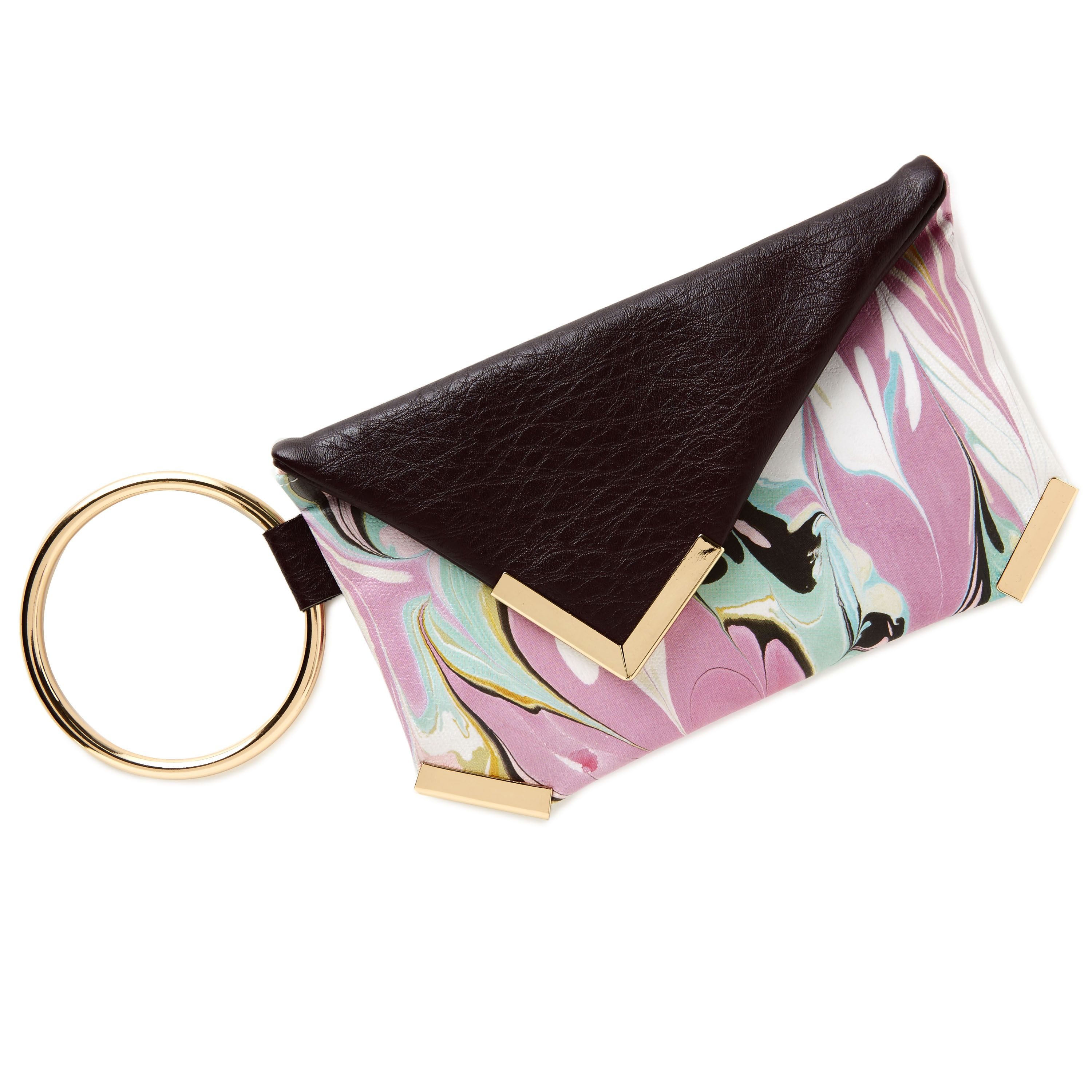 Date night must have. Marble designed wrist purse with large metal ring, holds all the little essentials. $19.95