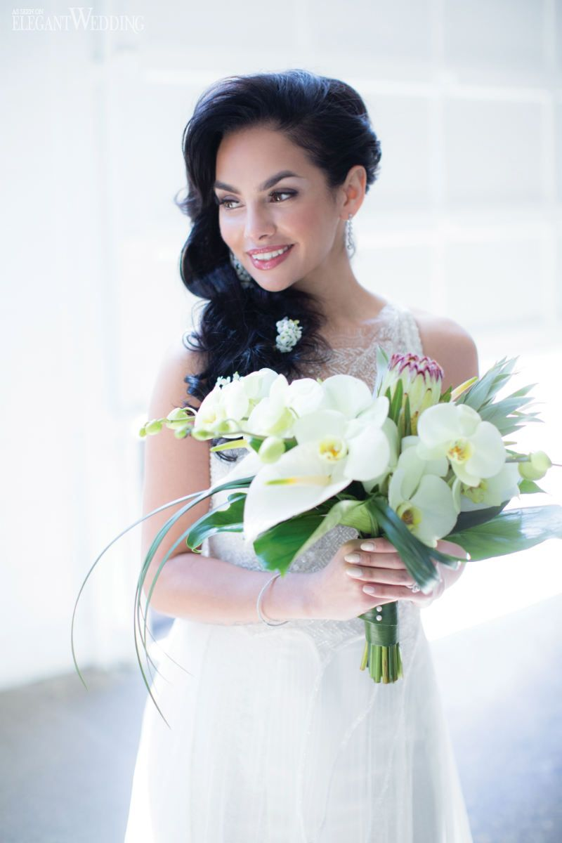 Tropical Wedding Ideas in the City | White orchids, Destination ...