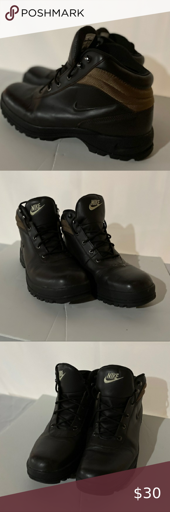 Nike ACG mens boots - brown leather - size 11 in 2020 ...