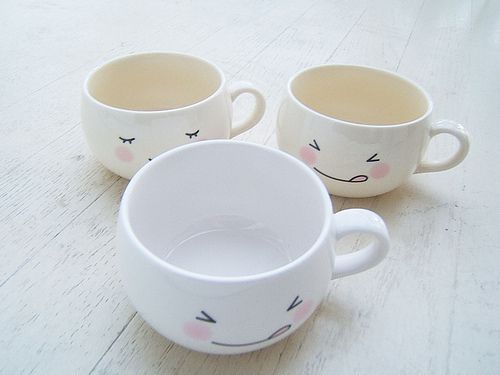 Cute Cups cafe, cups, cute, fofinho, white, xicaras | proyectos que intentar