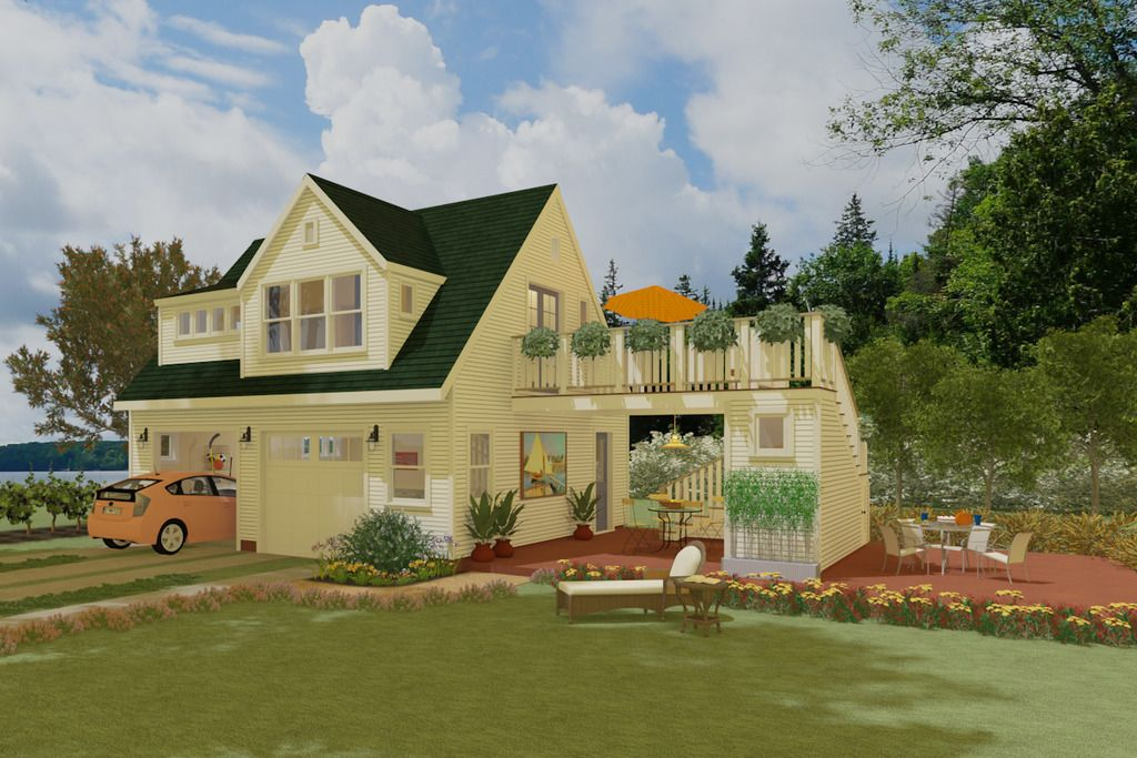This cottage design floor plan is 600 sq ft and has 1 bedrooms and
