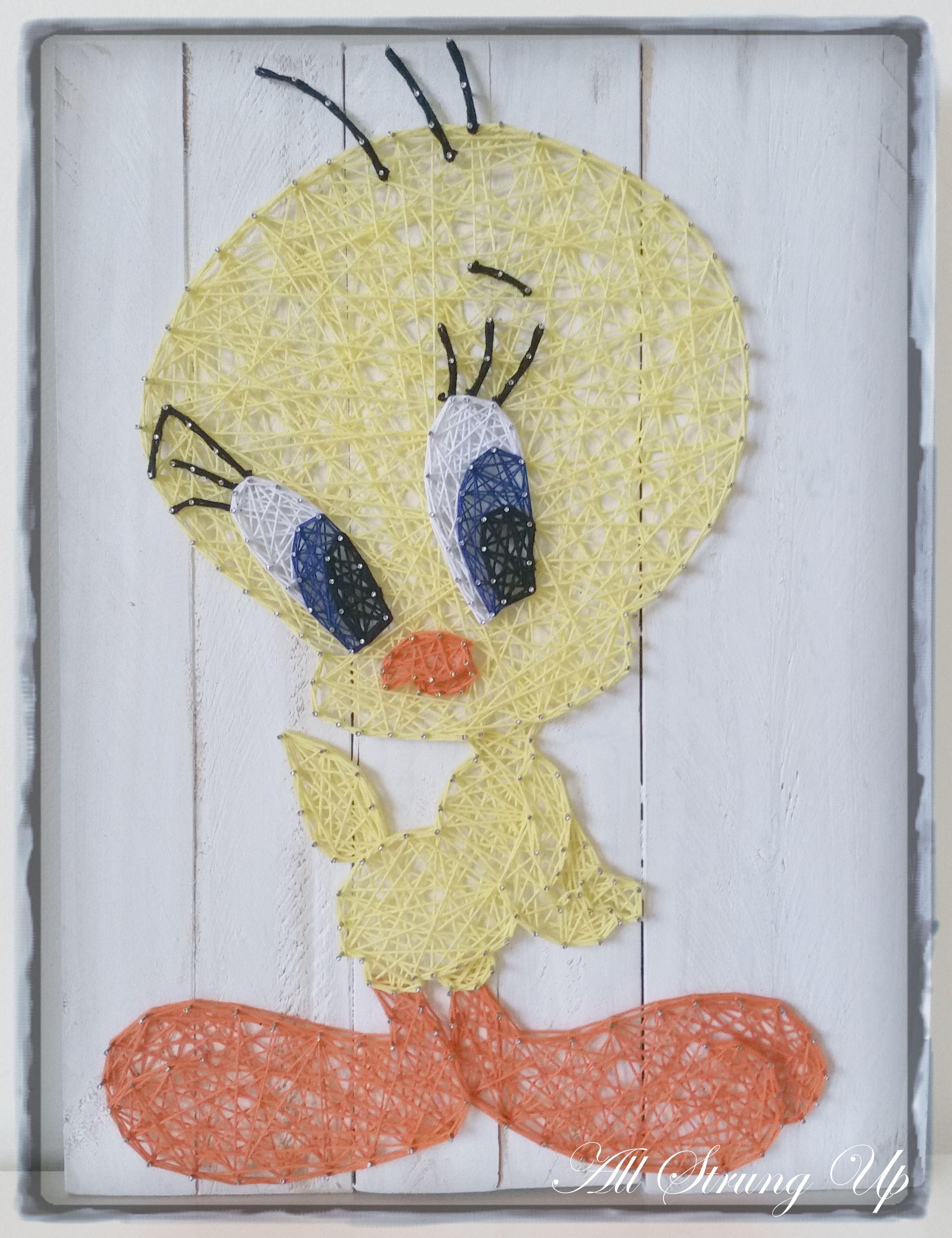 Tweety Bird - String Art | String art, Tweety and Bird