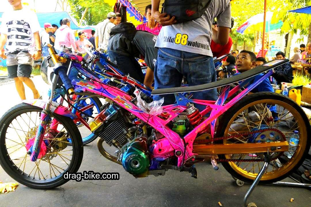55 Foto Gambar Modifikasi Motor Satria Fu Drag Race Style Harian